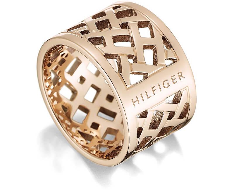 Tommy Hilfiger Originální pozlacený prsten z oceli TH2700744