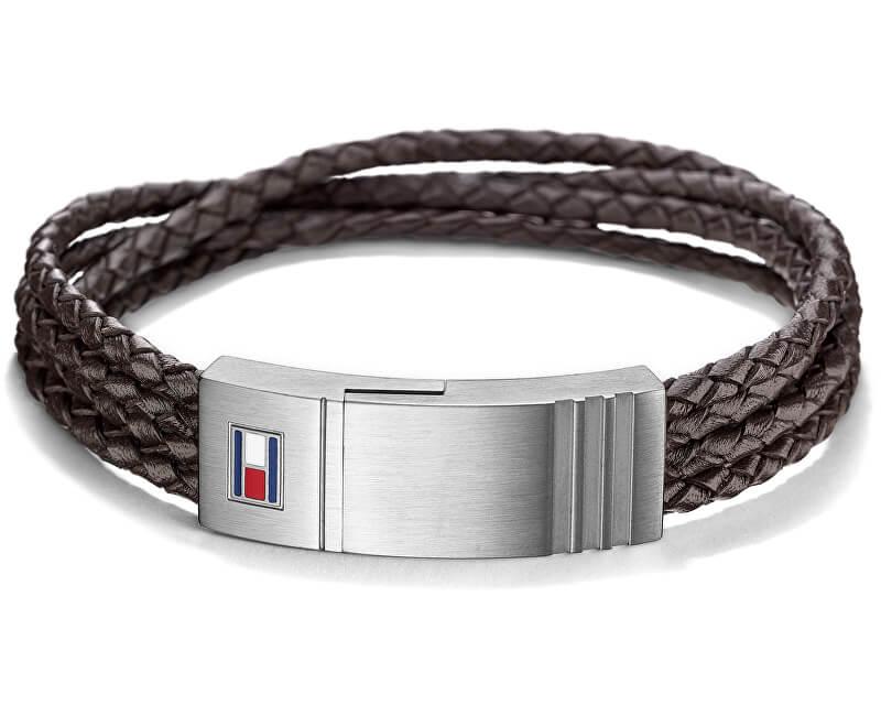 Tommy Hilfiger Pánský kožený náramek TH2701008