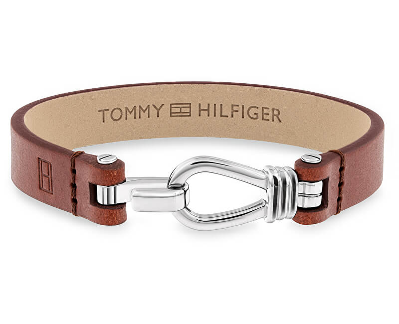 Tommy Hilfiger Pánský kožený náramek TH2701054