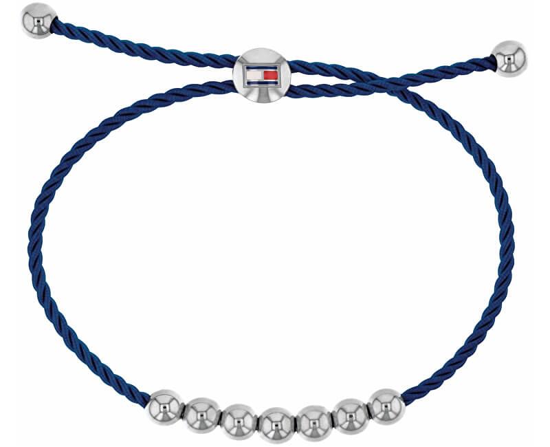 Tommy Hilfiger Tmavě modrý náramek s korálky TH2780003
