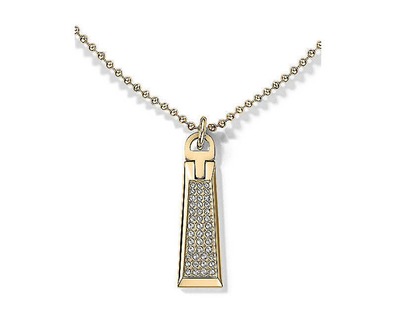 d398bb2f5 Tommy Hilfiger Zlatý náhrdelník se zipem s krystaly TH2700719 ...