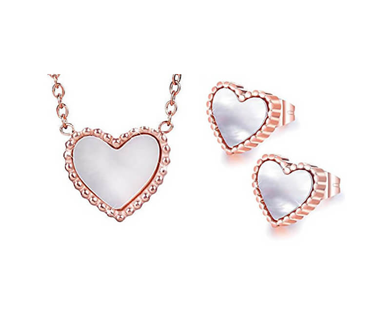 Troli Bronzová súprava šperkov s perleťovým stredom