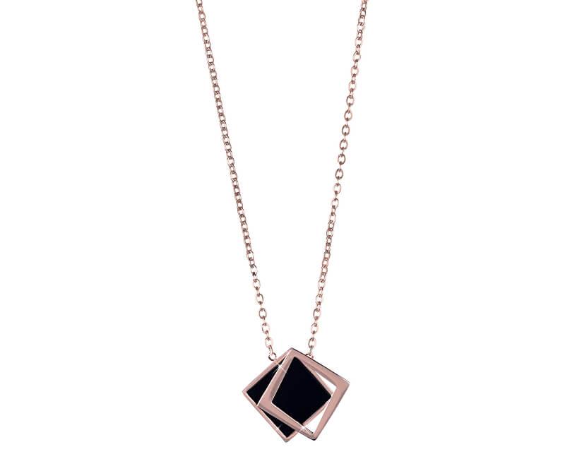 b2d75a8f7 Troli Bronzový náhrdelník s černým dvojitým přívěskem | Sperky.cz