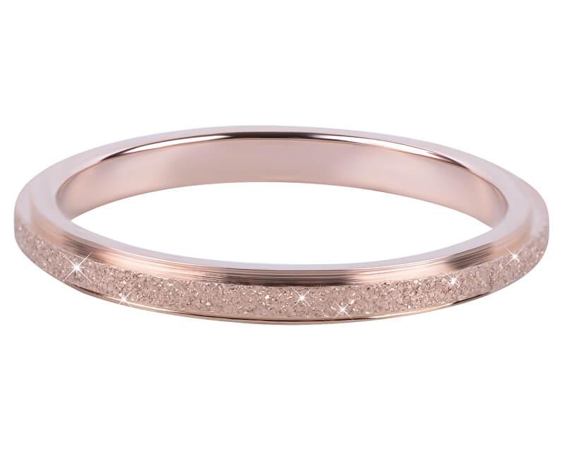 Troli Bronzový ocelový třpytivý prsten