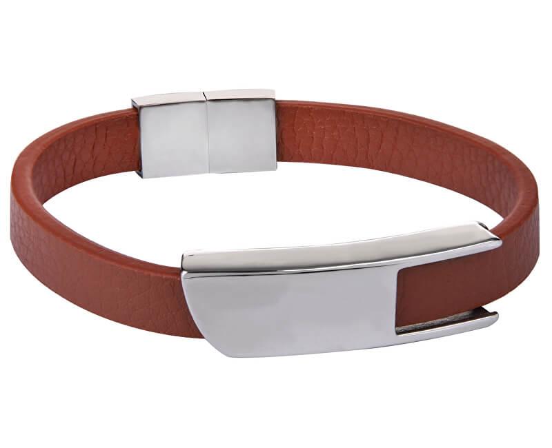 5aa255c40 Troli Hnedý kožený náramok s oceľovou sponou Leather   Vivantis.sk ...