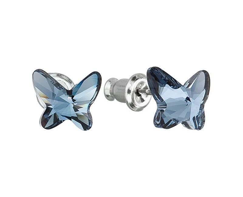 Troli Motýlkové náušnice Butterfly Denim Blue