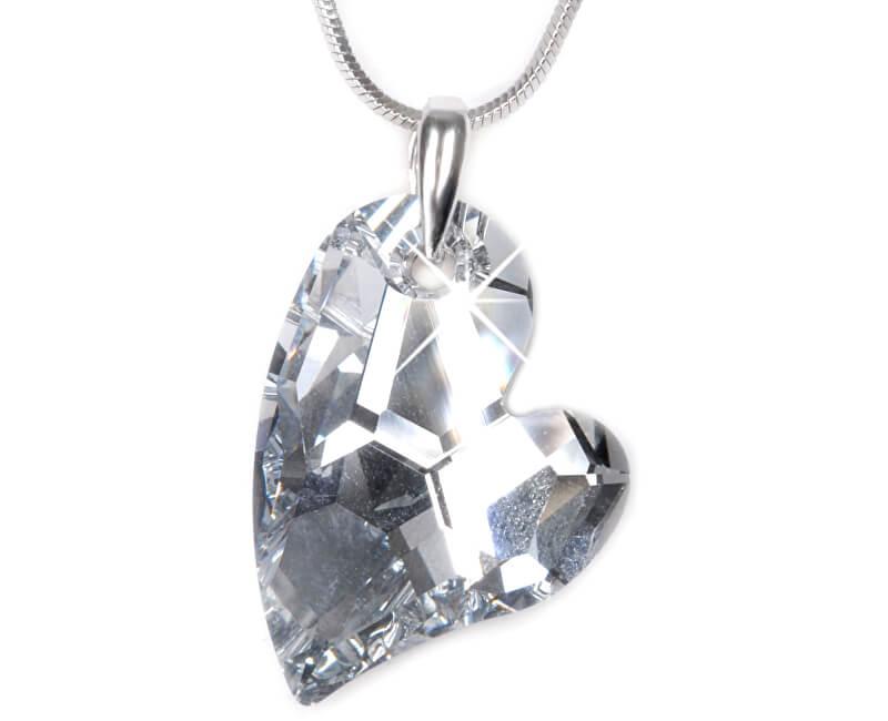 Troli Náhrdelník Heart D2Y 27 mm Crystal