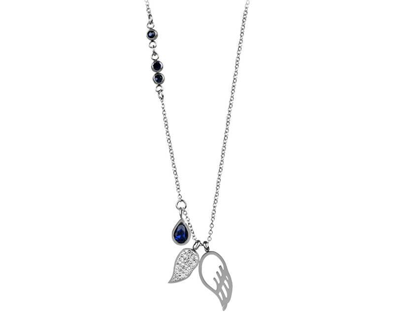 Troli Colier din oțel cu aripi de înger