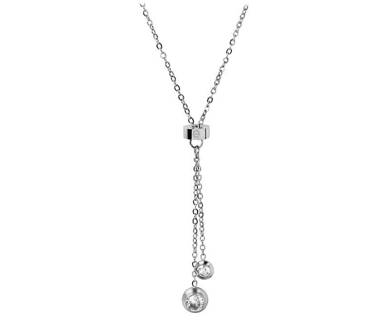 Troli Ocelový náhrdelník s krystaly