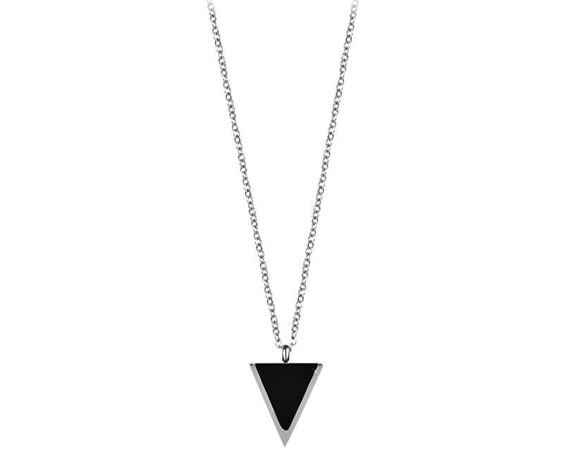 Troli Colier din oțel cu pandantiv triunghiular