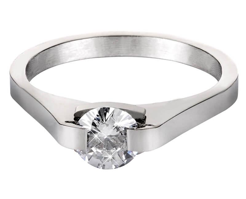 Troli Ocelový prsten s krystalem KRS-088