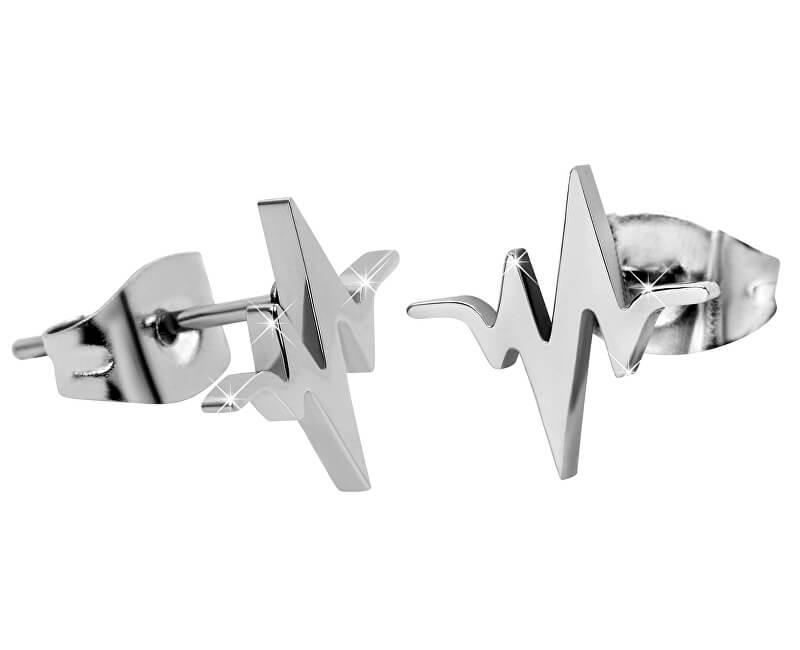 Troli Originální ocelové náušnice Srdeční tep