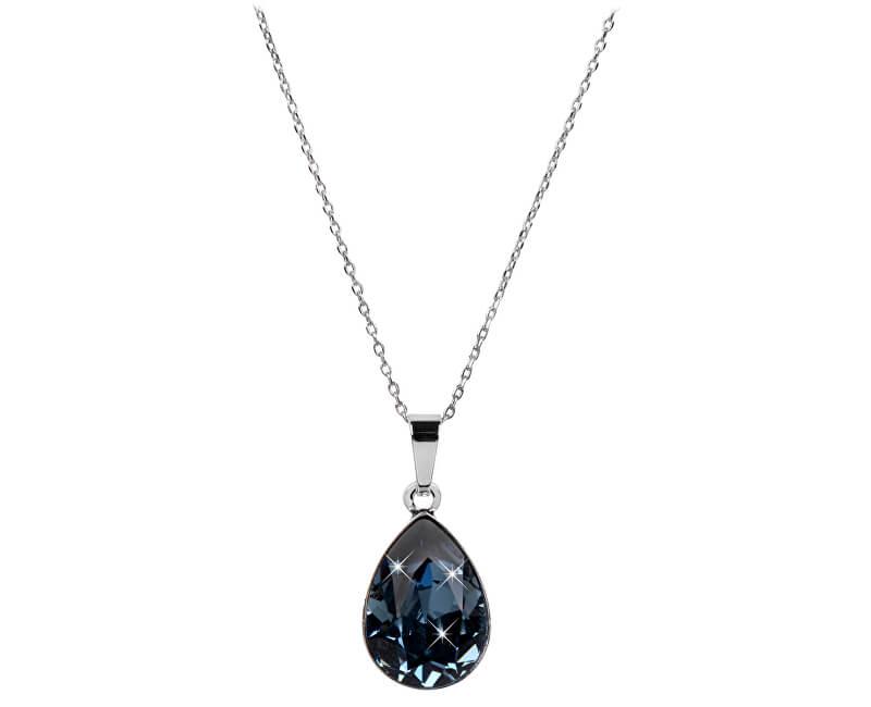 Troli Oslnivý náhrdelník Pear Denim Blue