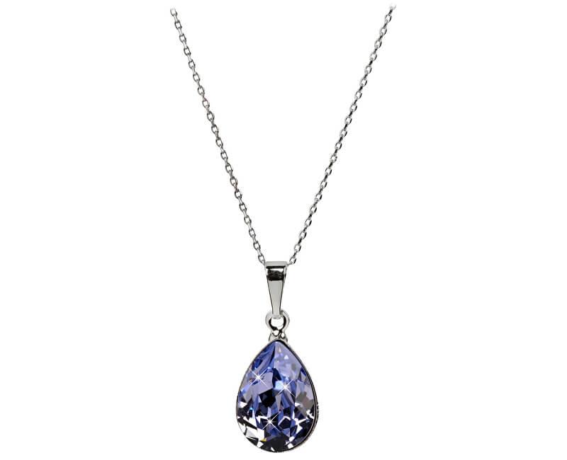Troli Oslnivý náhrdelník Pear Provence Lavender