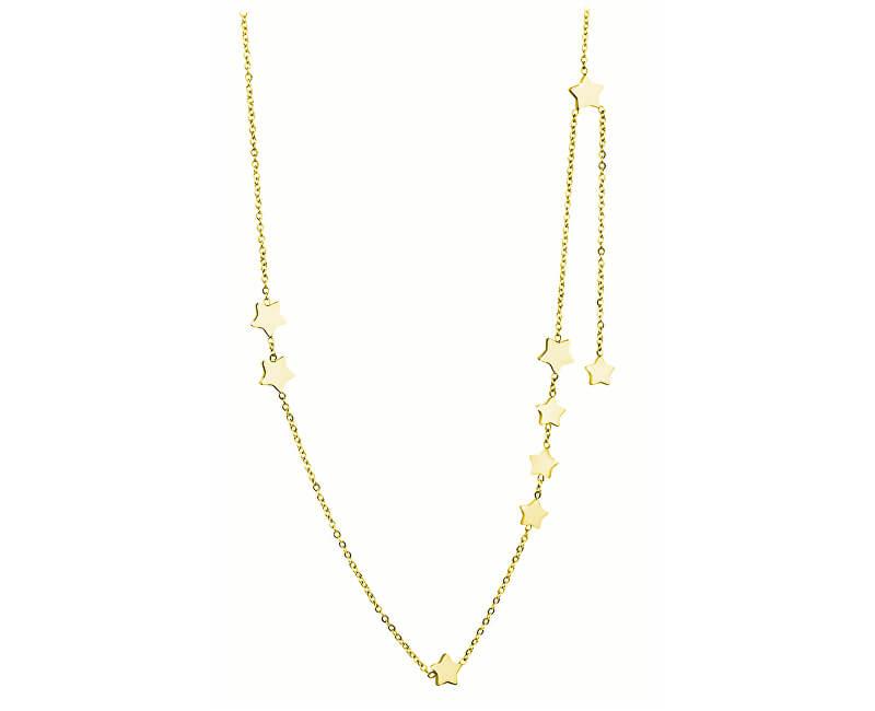 Troli Pozlacený hvězdičkový náhrdelník z oceli