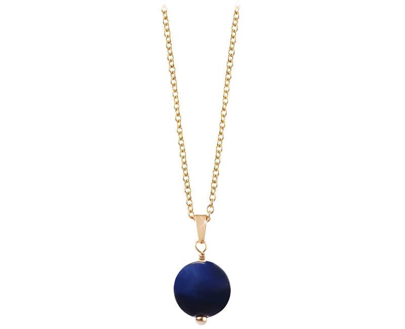 Troli Pozlacený náhrdelník s modrým tygřím okem