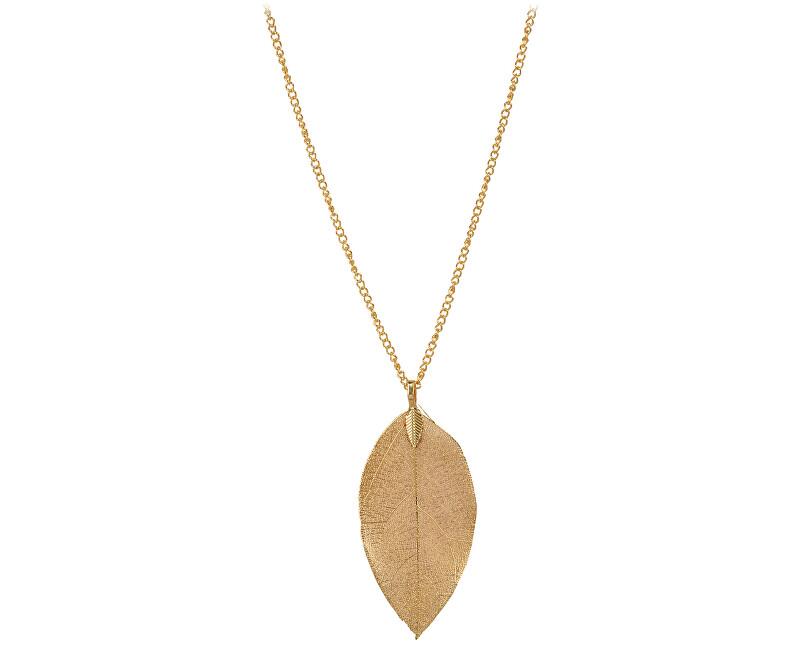 Troli Pozlacený náhrdelník s vavřínovým listem II. Laurel