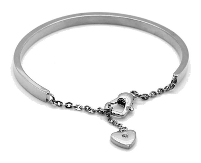 Troli Romantický ocelový náramek se srdcem KBS-151-SIL