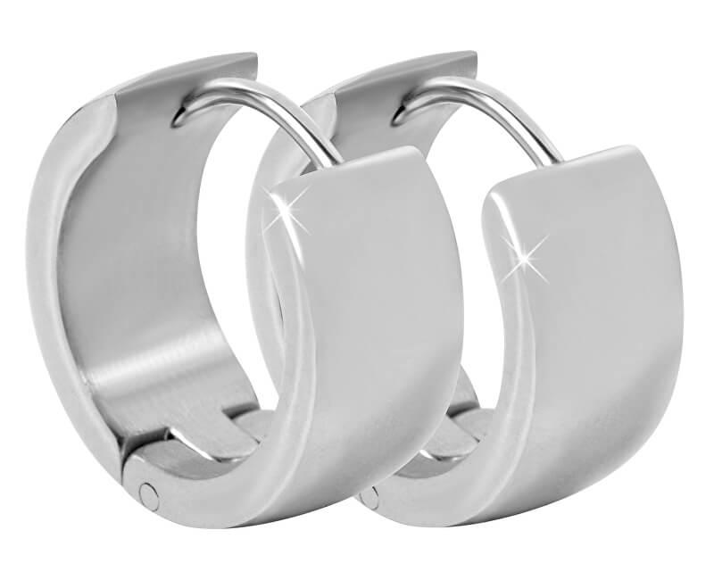 Troli Široké kroužkové náušnice z oceli
