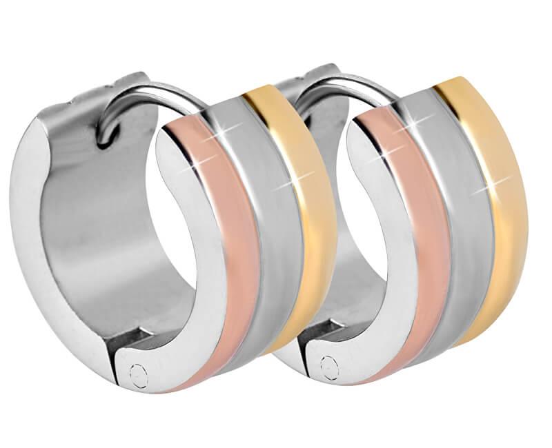 Troli Tricolor ocelové náušnice kroužky