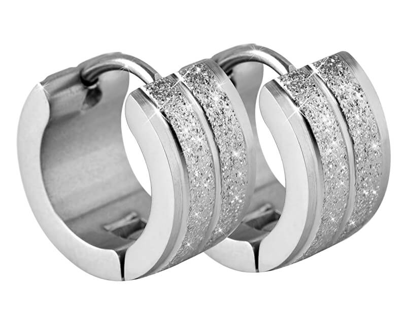 Troli Třpytivé ocelové náušnice kroužky