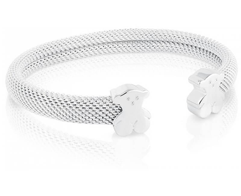 Tous Pevný stříbrný náramek s medvídky 711900031-S - stříbro 925/1000 19 g + obecný kov 3 g