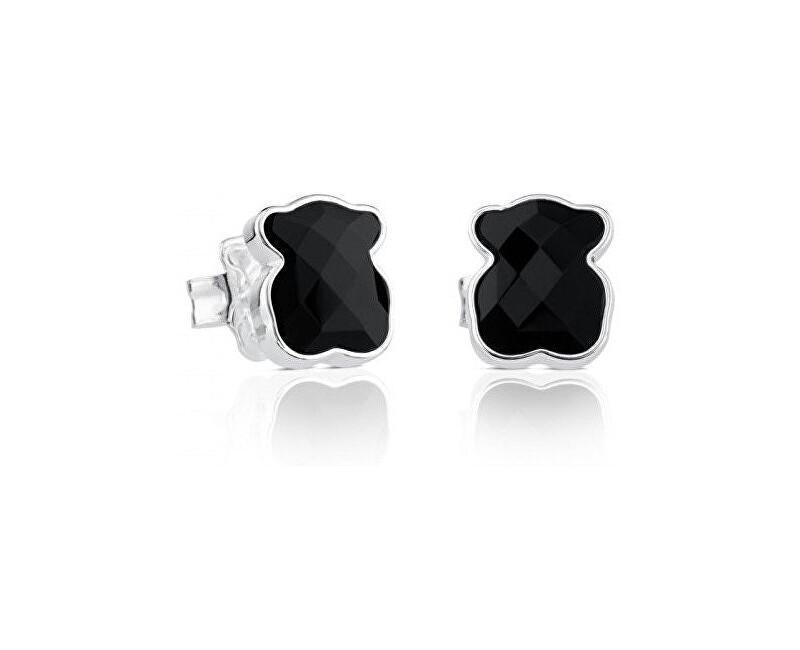 Tous Stříbrné medvídkové náušnice s onyxem 815433500