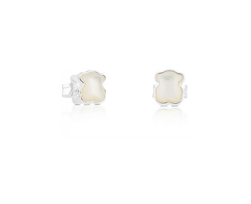 Tous Cercei argint mic ursuleț de pluș cu perla 915433640