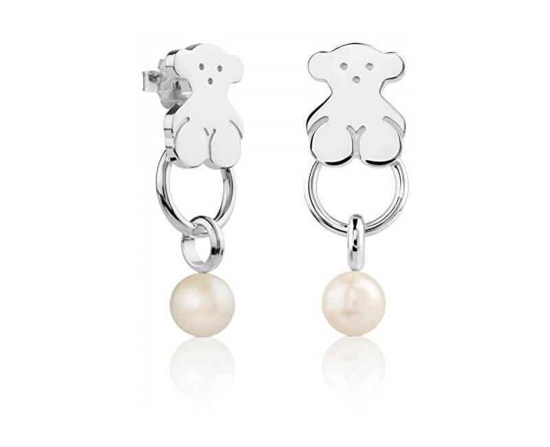 Tous Cercei din argint cu perle veritabile 512773510