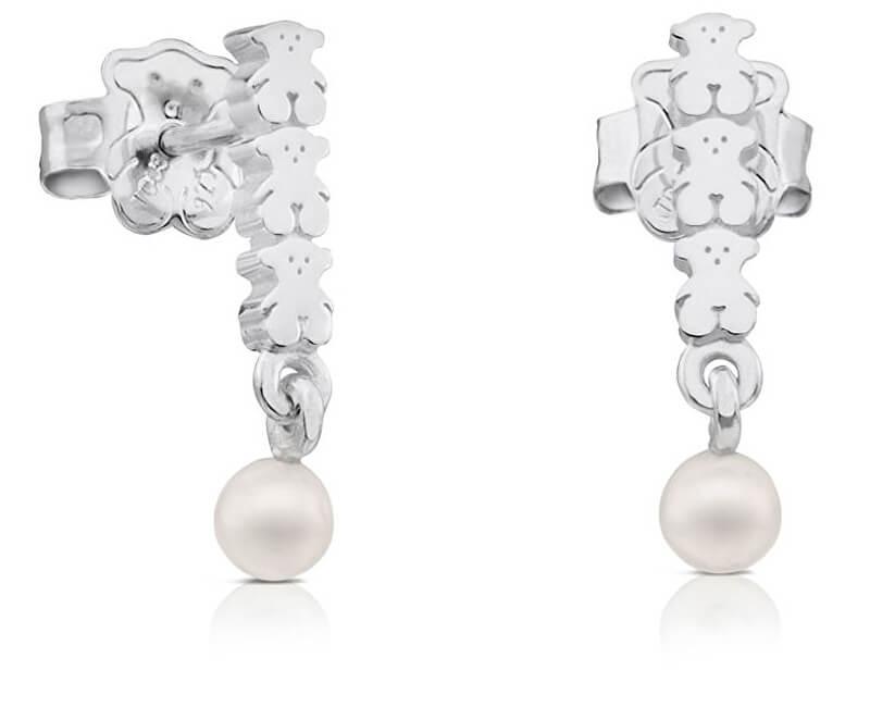 Tous Cercei de argint cu perle reale 512723530