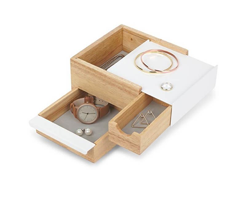 Umbra Šperkovnice STOWIT mini bílá/přírodní 1005314390