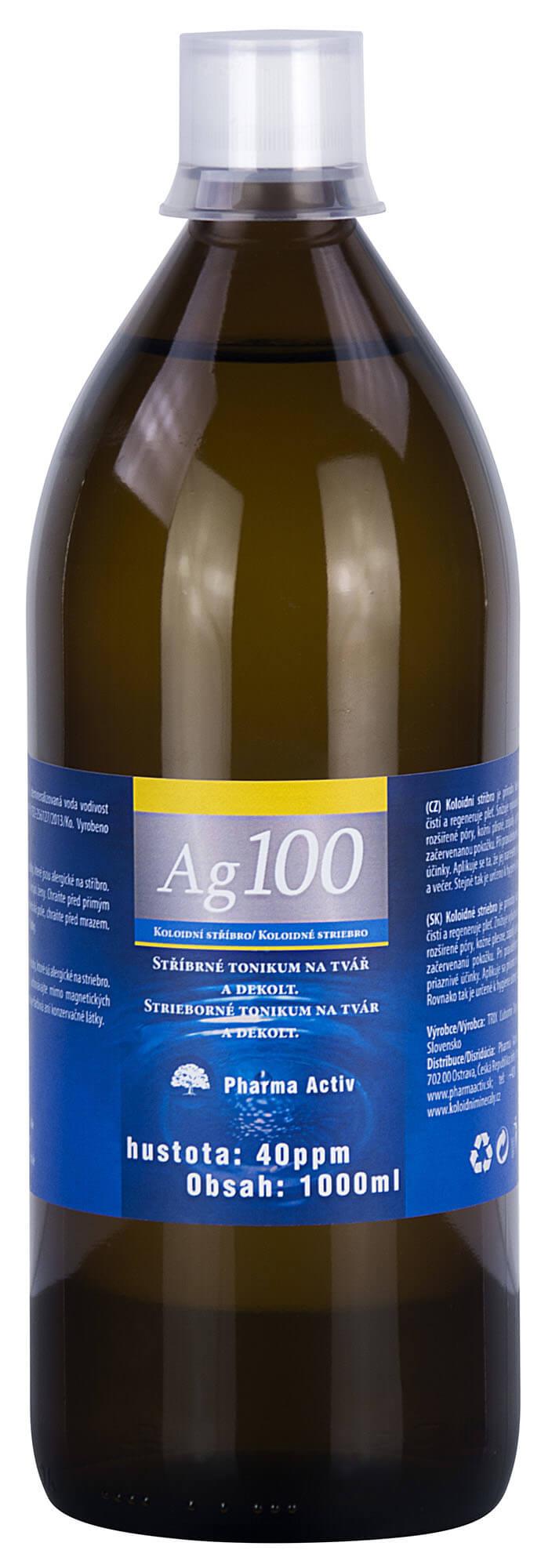 6ee0e233d Pharma Activ Koloidné striebro Ag100 (40ppm). Vege. × Štítok ...