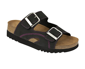 Zdravotní obuv MOLDAVA WEDGE AD - černá fuchsiová. Scholl a693a9b5d8d