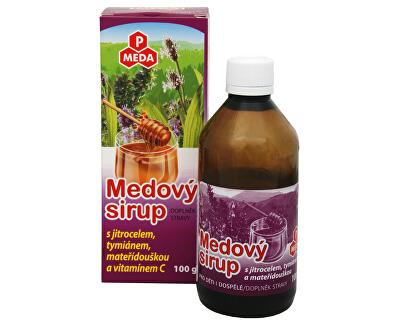 PM Medový sirup s jitrocelem, tymiánem, mateřídouškou a vitamínem C 100 g