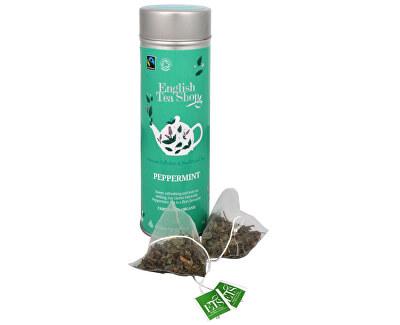 Čaj Čistá máta - plechovka s 15 bioodbouratelnými pyramidkami