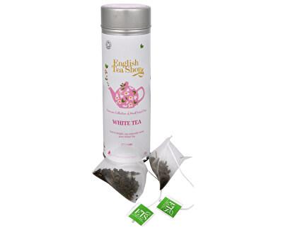 English Tea Shop Čistý biely čaj - plechovka s 15 bioodbouratelnými pyramídkami