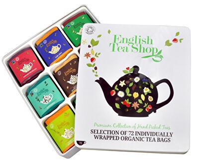 English Tea Shop Dárková plechová kazeta - luxusní čaje 72 sáčků/9 příchutí
