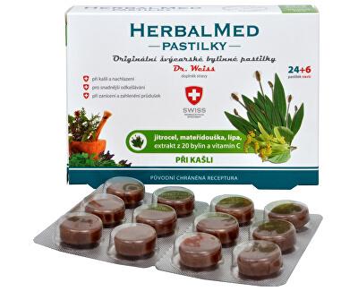 Simply You HerbalMed pastilky Dr. Weiss pri kašli 24 pastiliek + 6 pastiliek ZADARMO