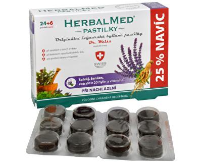 Simply You HerbalMed pastilky Dr. Weiss při nachlazení 24 pastilek + 6 pastilek ZDARMA