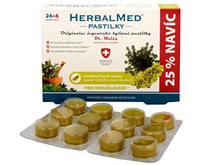 Simply You HerbalMed pastilky Dr. Weiss pro odkašlávání 24 pastilek + 6 pastilek ZDARMA