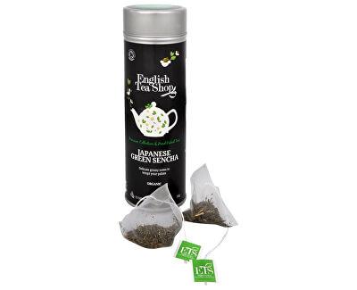 English Tea Shop Japonský zelený čaj Sencha - plechovka s 15 bioodbouratelnými pyramidkami