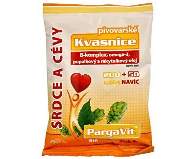 PargaVit Pivovarské kvasnice Bifi Omega Puls 200 tbl. + 50 tbl. ZADARMO