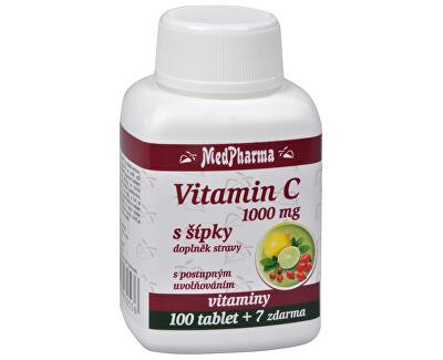 Vitamín C 1000 mg so šípkami 100 tabletiek + 7 tablet ZD ARMA