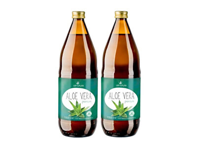 Aloe vera Premium 1000 ml + 1000 ml ZDARMA