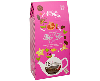 English Tea Shop Čaj Čokoláda a super ovoce 16 pyramidek