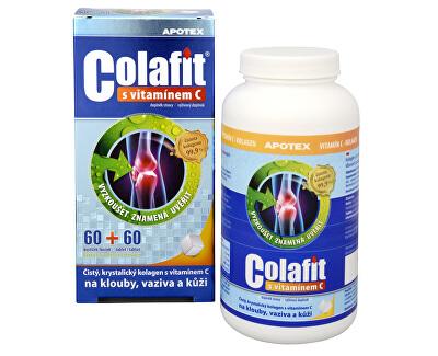 Apotex Colafit (čistý kolagén) s vitamínom C 60 kociek + 60 tbl.