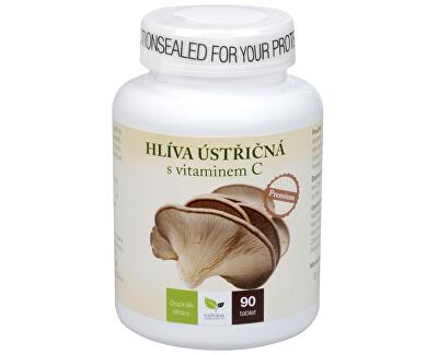 Natural Medicaments Hliva ustricová Premium s vitamínom C 90 cmúľacích tbl.