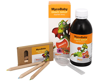 MycoMedica MycoBaby dračí sirup 200 ml + pastelky ZDARMA
