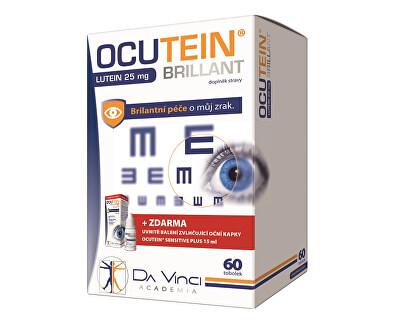 Ocutein Brillant 25mg Luteina 60 caps. + Ocutein® ochi lubrifiant sensibil picături 15 ml GRATUIT
