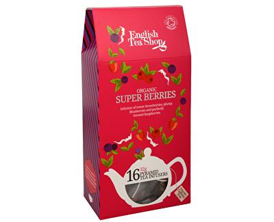 Super ovocný čaj Rooibos a červené ovocie 16 pyramidiek